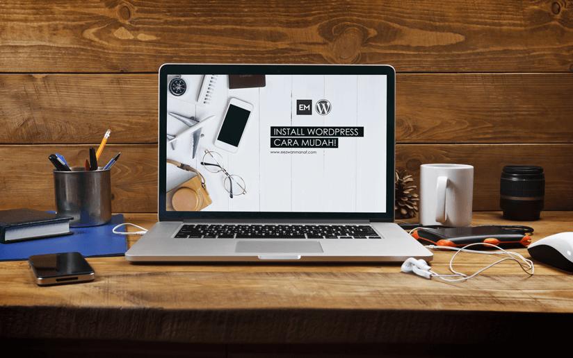 install wordpress cara mudah