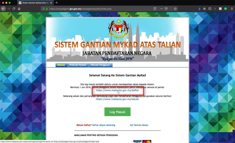 Pendaftaran Baru Klik pada https://www.malaysia.gov.my/daftar untuk pendafataran baru. Anda akan dibawa ke laman pendaftaran